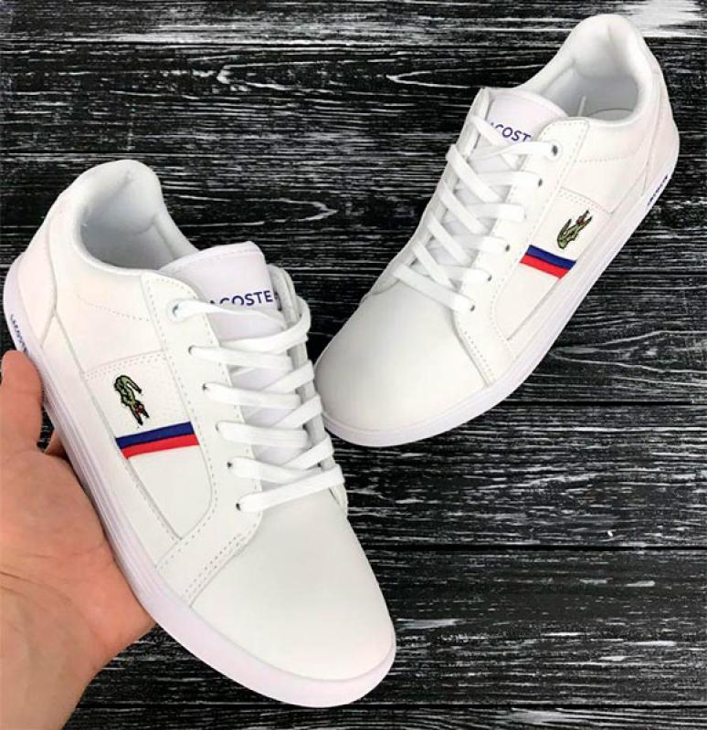 f01013c1 Белые мужские кроссовки Lacoste Т-147 купить