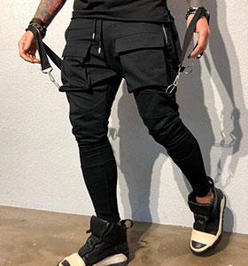 219db634528 Модные мужские штаны с карманами Б-51