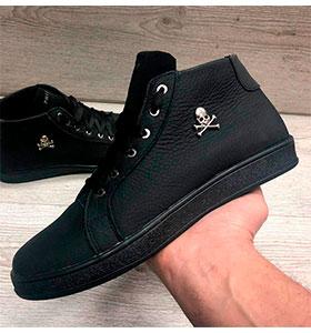 ff768266 Высокие мужские кроссовки Plein Т-199