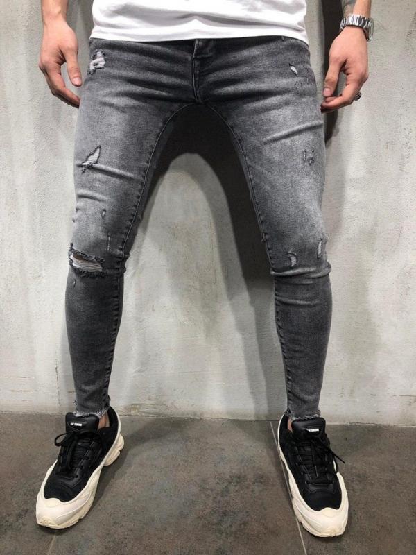 8090ac32654 Темно серые мужские зауженные джинсы D-247 купить