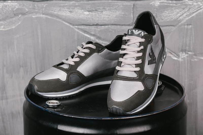 b34f5d346d50 Светлые брендовые кроссовки Armani Т-215