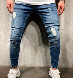 d6ae253a1fa Мужские рваные джинсы с дырками купить модные в Украине