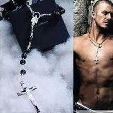 Мужская Цепочка Крестик DG David Beckham