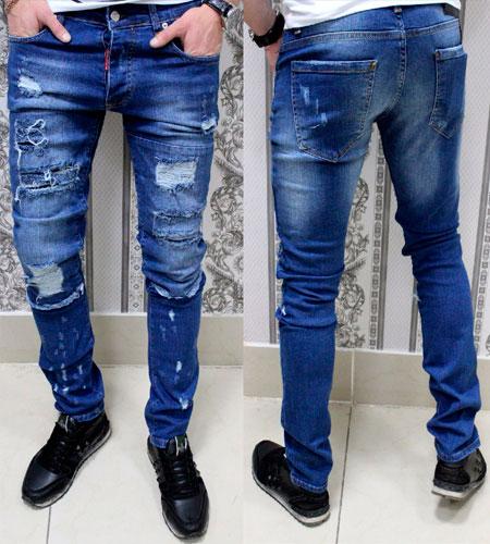 рваные джинсы Dsquared с дырками D 115