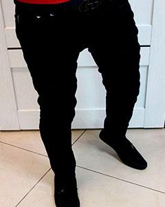 Чёрные Мужские Джинсы Armani D-144