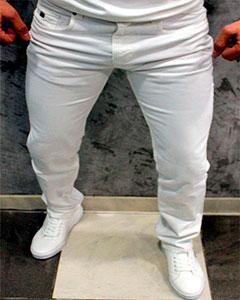 Белые Мужские Джинсы Prada D-148