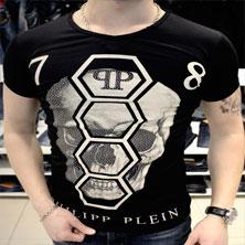 Черная Мужская Футболка Philipp Plein Ф-217