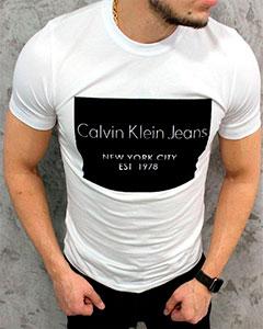Белая Футболка Calvin Klein Ф-262