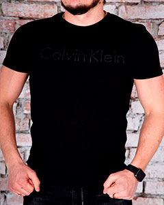 Черная Брендовая Футболка Calvin Klein Ф-267