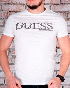 Белая Модная Футболка Guess Ф-269