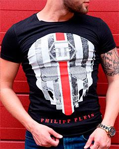 Мужская Футболка Philipp Plein с Черепом Ф-274