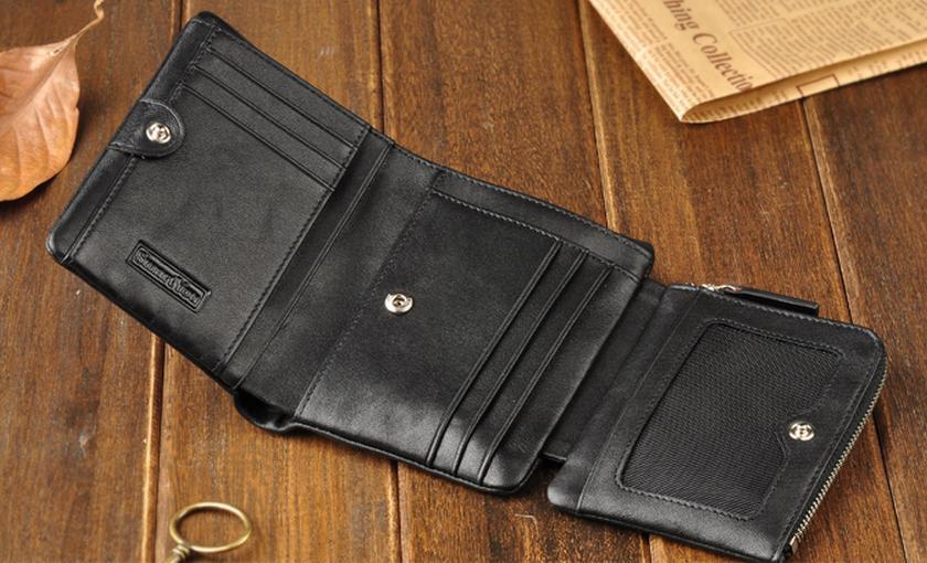 Мужской кошелек кожаный