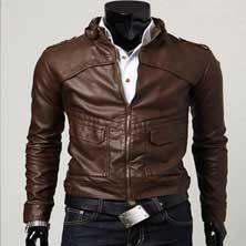 Коричневая Мужская Куртка KR-10