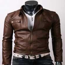 Коричневая Весенняя Мужская Куртка KR-12