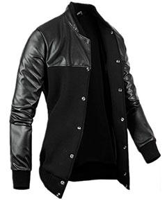 Стильная Курточка с Кожаными Рукавами К-149