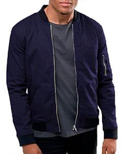 Стильная Синяя Куртка Бомбер К-166