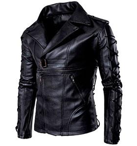 791a40d3703 Модная Мужская Кожаная Куртка К-190 купить
