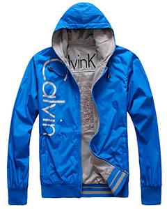 Синяя мужская Куртка Calvin Klein KR-37