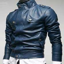 Синяя Мужская Куртка KR-57