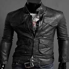 Черная Мужская Куртка KR-58