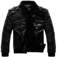 Осенняя Куртка KR-67 из Искусственной Кожи с Меховой подладкой