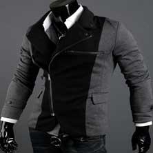 Темное Мужское Пальто K-74