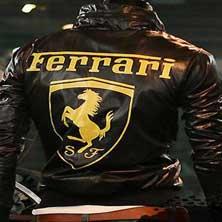Черная Мужская Ветровка Ferrari K-94