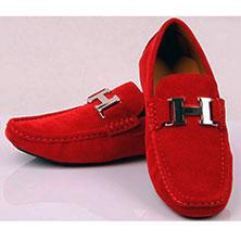 Красная Мужская Обувь Hermes T-58