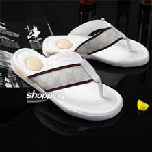 Белые Мужские Тапочки Gucci T-72