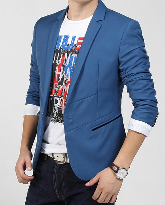 синий мужской пиджак фото