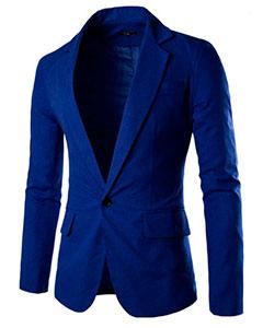Синий Модный Пиджак П-97