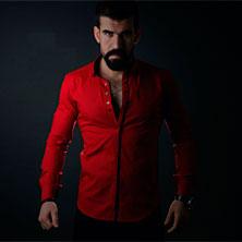 Красная Мужская Рубашка Р-113