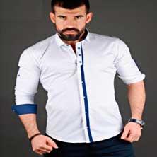 Белая Стильная Рубашка Р-114