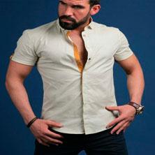 Мужская Рубашка с Коротким Рукавом Р-117