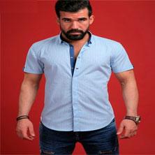 Серая Рубашка с Коротким Рукавом Р-121