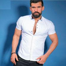 Белая Рубашка с Коротким Рукавом Р-127