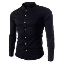 Черная Мужская Рубашка Р-133