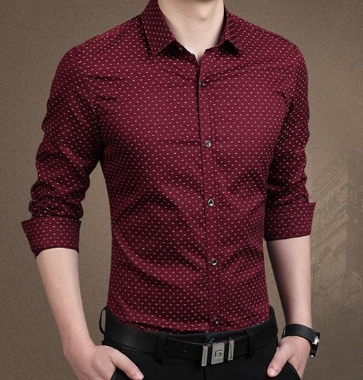 62a8feeb781 Бордовая Рубашка Мужская Р-137