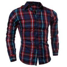 Клетчатая Мужская Рубашка Р-143