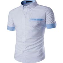Рубашка Мужская с Коротким Рукавом Р-145