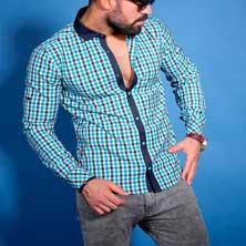 Мужская Клетчатая Рубашка Р-159