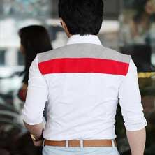 Стильная Мужская Белая Рубашка Р-16