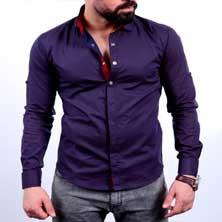 Мужская Рубашка с Длинным Рукавом Р-166