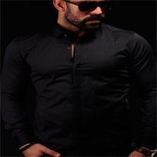 Черная Мужская Рубашка Р-169
