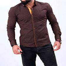 Коричневая Рубашка Мужская Р-174