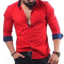 Красная Мужская Рубашка Р-192