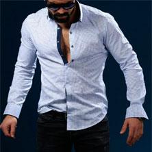 Стильная Светлая Рубашка для Парня Р-193
