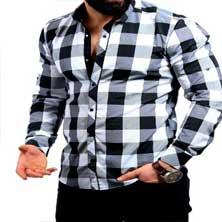 Мужская Рубашка в Крупную Клетку Р-199
