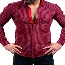 Модная Рубашка Мужская в Клетку Р-201
