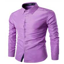 Светло-Фиолетовая Мужская Рубашка Р-204
